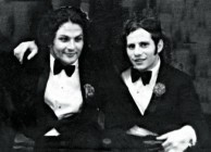 George Miller and Michael Jonson. At George's twin brother's wedding in 1970.