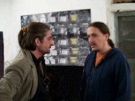 Architects Andreas Mariatos and his associate Theothori