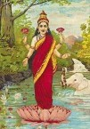 Gift to NSW ... standing Lakshmi ... an 1894 lithograph of the goddess, donated by Kytherian Jim Masselos