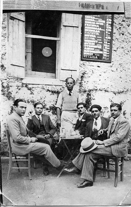 Cafe in Mitata ca. 1930