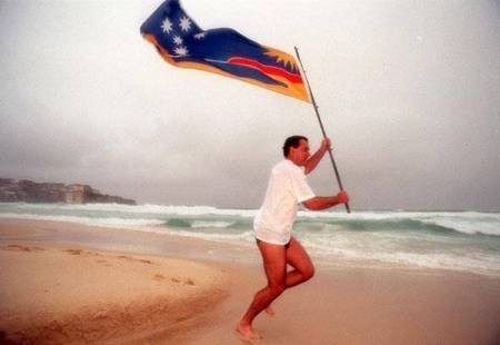 George C Poulos. The Man Behind the Flag.
