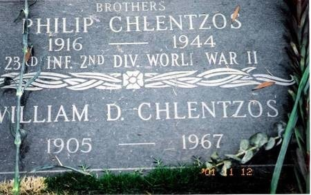Headstone of the Chlentzos Brothers, Los Angeles, California