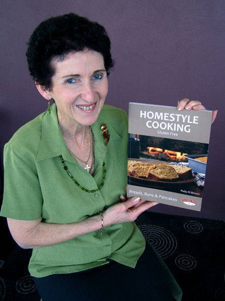 Homestyle Cooking. Gluten Free. Breads, Buns & Pancakes. - Ruby Brown SMALL