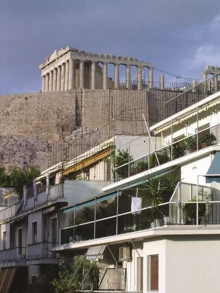 The view of the Parthenon from the Institute's Hostel in Athens - Hostel view