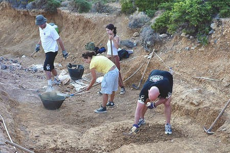 Archaeological Dig in Kythera, ,July 2010 - Fivos Tsaravopoulos 2472