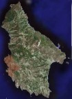 Recent Satellite Map of Kythera