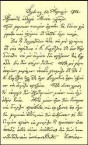 A hand written letter of Emmanuel Kritharis forwarded on the 14th April 1902 to his brother at Kythera.
