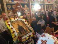 Parish Priest, the Reverend Athanasios Giatsios conducting the final ceremony