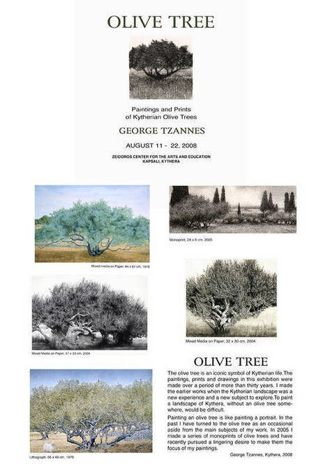 George Tzannes' Olive Tree Exhibition - TzannesOliveTreeExhibition
