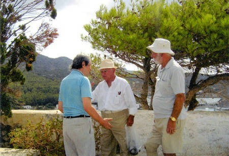 Sept 2008. (3) Toki Koizumi, the grandson of Lafcadio Hearn visits Kythera to pay homage to his grandparents. - Hearn007