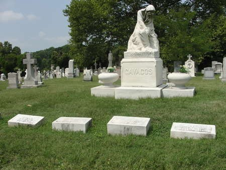 Cavacos monument created by Emmanuel Cavaco, in the Greek section of Woodlawn Cemetery in Baltimore, Maryland