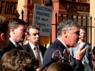 George Souris at a NSW Parliamentary Rally