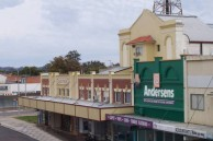 Saraton Theatre, Grafton, NSW. Looking south-west from a high vantage point on the neighbouring railway bridge.