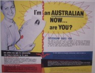 Poster encouraging migrants to apply for Australian citizenship. 1960's.