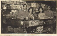 Kerry, John and Violet Cordato at their Campsie Milk Bar