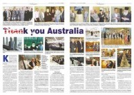 """""""Thank you Australia"""" double page spread"""