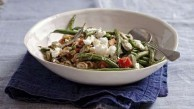 Greek olive oil beans with fetta