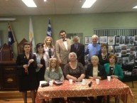 Committee members of AHEPA and Association of Greek Writers and Artists Australia ( EELKA )