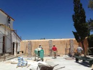 Building work being undertaken on the Kytherian Municipal Library