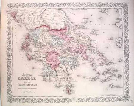 "COLTON, J. H.  Greece and the Ionian Republic New York, 1862 (11"" x 14"")."