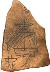 Graffito of 18th-19th century boat...