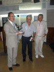 Mayor of Kythera Mr Theodoros Koukoulis (left) presenting a