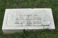 Gravestone of Lula Cavacos (nee, Chlenzos), Greek section, Woodlawn Cemetery, Baltimore, Maryland