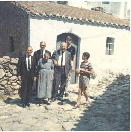 Nicholas Gavriles with brothers and relatives