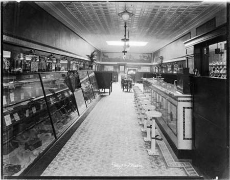 Interior Paradise Candy Store from entrance