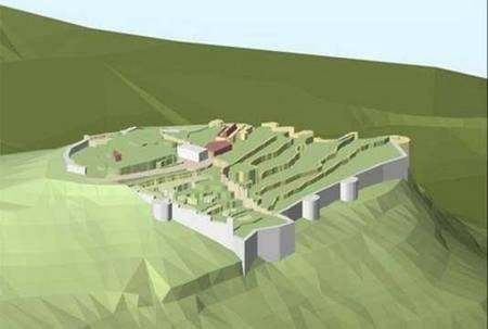 Arcscene Reconstruction of... - Arcscene reconstruction of Kythera fort