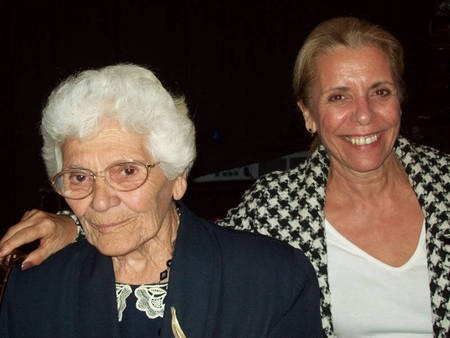 Yia yia Thespina Tourva, and daughter after the screening of the film