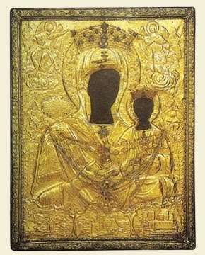 The miraculous icon of Panagia Myrtidiotissa - Picture of the original icon of Panagia Myrtidiotissa, Kythera