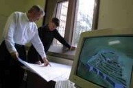 Map Detectives - Ian Johnson and Andrew Wilson at work on the TimeMap project