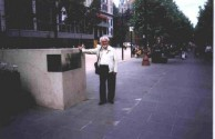 Professor Nikos Petrochilos in Melbourne's Central Square.
