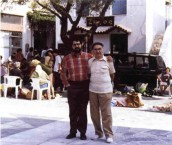 Elias Vlanton, and Elias Vlanton, father and son, in Potamos, Kythera