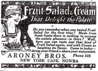 Aroney Brothers, Nowra. Advertisment, 1926.