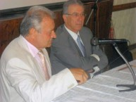George N Leontsinis (left) and Professor Emilios Solomou (right)