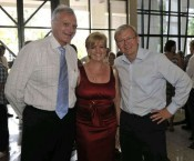 Len Notaras, wife wife Robyn, and Australian Minister for Foreign Affairs, Kevin Rudd