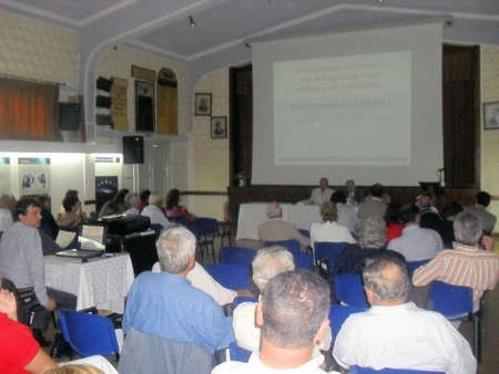 """ONE-DAY CONFERENCE IN KYTHERA: """"THE HISTORY AND CULTURE OF KYTHERA AND KYTHERIAN DIASPORA"""" - Packed audience at similar presentation, Kythera Oct 2010"""