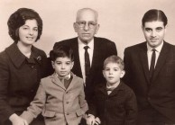 Prof Manuel J Aroney and family in Athens, 1966