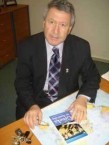 Professor Tamis with his new book 'The Greeks in Australia.'
