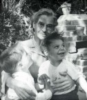 Yanoula Chlentzos and her grandsons