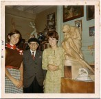 Emmanuel Cavacos in 1969, with grandaughters of Baltimore friend Charles Fitzpatrick