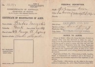 Registration of Alien Certificate of Bretos Margetis, 1915
