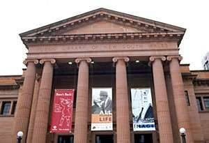 In Their Own Image. Greek Australians - the Exhibition. - Effy and Leonard - State Lib, NSW, exterior