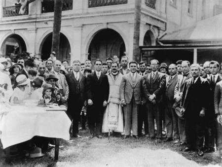 Dedication of the site of St George's Greek Orthodox Church, Charlotte Street, Brisbane, 1928. - Church Dedication of the site of St George's Greek Orthodox Church, Brisbane, 1928