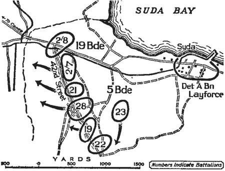 42nd Street. Background to a significant battle in Crete during WWII - Map of the action on 27 May 1941 from the official Australian military history