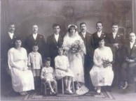 Wedding of Chris Coroneos (Christiforos Dimitriou Koroneos) and Melba Comino (Melpomeni Kosma Komino). 3rd July, 1924, Goulburn, NSW.