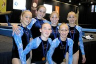Stephanie Magiros [far left] with her NSW teamates