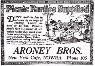 Aroney Brothers, Nowra. Advertisment. 1925.